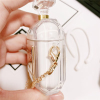 luxus parfums großhandel-Delicate Luxury Parfüm Flasche Schutzhülle für Airpods TPU Silikon Soft Case mit Halskette Kopfhörer Halter