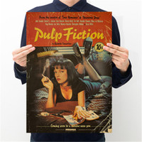 ingrosso parete classica della tv-Pulp Fiction Retro Nostalgia Classic Old Movie Poster Wall Sticker Kraft Paper
