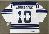 ingrosso case d'acero-Uomo # 10 GEORGE ARMSTRONG Toronto Maple Leafs 1967 CCM Vintage Away Home Away Hockey Jersey o personalizzato qualsiasi nome o numero Retro Jersey