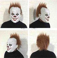 силиконовые латексные маски оптовых-Шутливая Веселая Маска Клоун силиконовая задняя маска для душа, потому что головной убор Хэллоуин ужас реквизит натуральный латекс призрак партия маска код подарка 2019hot