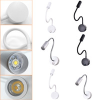 Wholesale kidding hoses for sale - Modern Switch on off W W White Flexible Hose LED Wall Lamp Flexible Arm Light Lamp Stair Kids room Bedside Wall Lighting