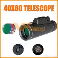 teleskopierendes monokular für die jagd großhandel-40X60 Zoom Monokular Teleskop Teleobjektiv Handy Zielfernrohr Outdoor Jagd Monokulare Zielfernrohre mit dreieckiger Halterung Clip