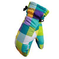 хоккейные перчатки оптовых-Лыжные Перчатки Водонепроницаемые Теплые Унисекс Хоккейные Перчатки Зима Спорт На Открытом Воздухе Горные Лыжи Сноуборд Для Boy Girl Kids S M