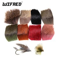 Wholesale hair spins for sale - Group buy Wifreo PC Natural Deer Hair Patch for Fly Tying Dry Flies Caddis Wings and Bodies Spinning Bass Bugs Making Materials CM
