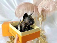 neue keychainentwürfe großhandel-2019 neue 2-farbige Hundeart keychain Beutel hängendes hängendes Markenentwurfs-Geburtstagsgeschenk Mit ursprünglicher Verpackung