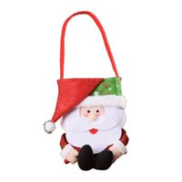 Wholesale bedding sets packaging for sale - Group buy Christmas Decoration Christmas Gifts Tote Bag Snowman Candy Bag Boutique Pouches Shopping Gift Package