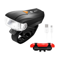 Wholesale bike light online - Mountain bike smart headlights USB charging headlights Waterproof Bicycle taillights Warning lights Smart charging headlights LJJZ36
