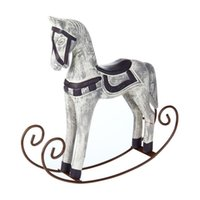 Wholesale wooden study room for sale - Group buy Modern Europe Style Trojan Horse Statue Wedding Decor Wood Horse Retro Home Decoration Accessories Rocking Horse Ornament Gifts