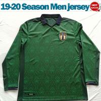 ingrosso il manicotto lungo jersey squadra di calcio-maniche lunghe Italia terza maglie di calcio 19/20 della nazionale verde camice di calcio 2020 # 10 INSIGNE # 19 uniformi di calcio BONUCCI