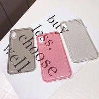 cep telefonları için bling toptan satış-Temizle Bling glitter cep telefonu kılıfı için iphone 6 Artı 6 S 7 8 8 Artı 7 Artı X XR XS MAX silikon jel telefon kılıfı