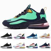 grünes blaues gold großhandel-Nike Air max 270 react shoes BAUHAUS React men running shoes University Gold OPTICAL triple black fashion mens trainer breathable sports outdoor sneakers 40-45