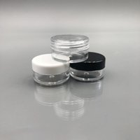 Wholesale ml jewelry resale online - 3 G ML Empty Clear Container Jar with MultiColor Lids for Makeup Cosmetic Samples Small Jewelry Beads Nail Charms and Accessories