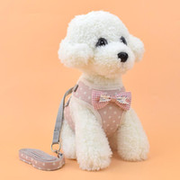 Wholesale The New Dog vest clothes Leash fashion lattice Hyena rope Small dog Leash Pet supplies Factory direct sales