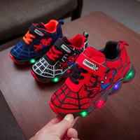 sapatos largos para meninos venda por atacado-Esporte das crianças Menino Meninas Meninos Sapatos Luzes Roxas Crianças Crianças Sapatos de Luminescência Menina Sapato Flash Sapato Levou Tênis favorito