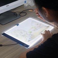 boş kroki kitabı toptan satış-Numarası ile Numara Paint By Yedekler LED Çizim Kurulu Ultra A4 Çizim tablo Tablet ışık Pad Sketch Book Blank ışıklı Boya