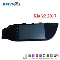 kia rio android venda por atacado-Android rádio do carro para Kia k2 2017 com wifi 4G rádio tela de toque gps 9 polegadas 2RAM 32rom controle de volante kia rio multimídia carro dvd