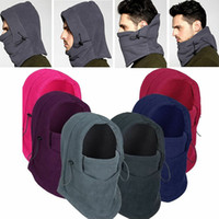 Wholesale ski face masks hats for sale - Group buy Winter Thermal Fleece Men Lady Ski Face Mask Neck Warmer Hood Hats Cap Outdoor Riding TY53