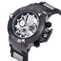 Wholesale watches without logos resale online - New Arrival Swiss Brand INVICTA LOGO Rotating Dial Outdoor Sports Mens Silicone Watches Quartz Watch All The Functions Work
