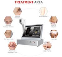 corps de visage de machine de beauté achat en gros de-3D professionnel d'ultrasons focalisé par machine de HIFU dans le levage de visage / corps amincissant la machine de beauté visage 3D de Hifu et corps amincissant la machine