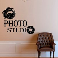 Wholesale home bedroom design photos for sale - Group buy Modern Design Photo Studio Camera Art Wall Decals Home Decor Vinyl Stickers Interior Decoration Room Removable Mural Window