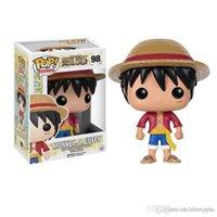 einteiliges kind luffy figur großhandel-GROSSHANDEL Funko POP One Piece PMONKEY. D. LUFFY Vinyl Action Figure Mit Box Beliebte Spielzeug Freies Verschiffen scherzt geschenk
