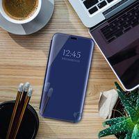 Wholesale honor view flip cover for sale – best 100pcs Mirror Smart Case For Huawei P Smart Y7 Y9 Y6 P20 P30 Cover View PU Leather Stand Flip Cover For Huawei Honor lite