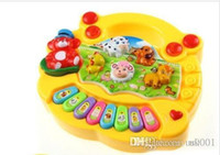 nutztiere für kinderspielzeug großhandel-Geschenk Baby Kids Musical Bildungs Animal Farm Piano Entwicklungsmusik Spielzeug Geschenke