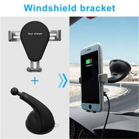 Wholesale rotation sensor for sale - Group buy 7 W W W Phone charging Smart Sensor Multi Angle Rotation Three Different Brackets Auto Clamping Wireless Car Charger