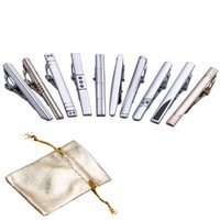 krawatte krawatte großhandel-10 Stück Mixed Gentleman Krawatte Krawattenklammern Crystal Bar Set für reguläre Krawatten 2,3 Zoll-LDJ0013
