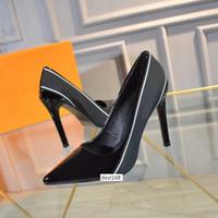 Wholesale best stilettos shoes resale online - BEST QUALITY High Heel Women Leather Dress Shoes Designer Black Stiletto Heel Shoes Women Wedding Party Dress Shoes size