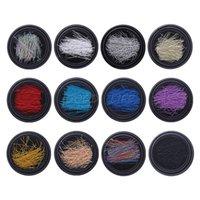 ingrosso free art strip-Trasporto libero 1 scatola DIY 3D Nail Art Glitter filo di metallo Tiny Line Strip Manicure Tip Decorazione per il bambino