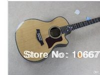 inlays de abalone guitarra elétrica venda por atacado-Venda imperdível!! Taylor polegadas 916ce Natural madeira maciça Captura Spruce Cutway Abalone embutimento Fishman Acoustic Guitar Elétrica