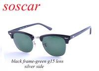 tops für clubbing großhandel-Soscar Markendesigner-Sonnenbrille für Männer Frauen Sport Semi-Rimless Plank Frame Glaslinse Club Sonnenbrille 51mm Top Qualität Gafas de Sol Mujer