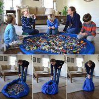 ingrosso sacchetti di stoccaggio-Baby Play Mat Storage Bags Giocattoli per bambini organizer Tappetini per giocare Giocattoli portatili Coperte Tappeti Scatole Organizzazione Regalo di Natale GGA1429