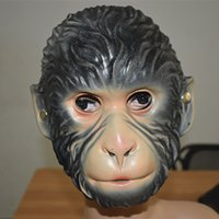 Wholesale making cosplay props resale online - New Halloween Animal Mask Fancy Dress Accessory Wolf Head Tiger Wolf Monkey Masquerade Cosplay Make up Props Environmental