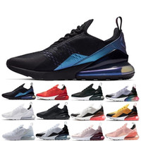 ingrosso scarpe da ginnastica denim casual-Nike Air Max 270 27C Shoes Revenge x Storm Nero Casual Shoes Kendall Jenner miglior Footwear Ian Connor Old Skool Fashion Current Shoes
