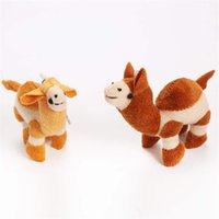Wholesale funny stuff toys resale online - Plush camel keychain luggage mobile phone pendant Cute Soft Camel Key Funny Kids Gift Toy Plush Stuffed Plush Dolls Kid s toy