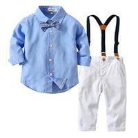 666a153fda950 Toddler Boys Clothing Sets Spring Autumn Baby Infant Shirt 1 2 3 4 Year Children  Kid Clothes Suits Formal Wedding Party Costume