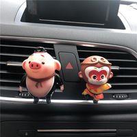 perfume meninos venda por atacado-bonito dos desenhos animados menino carro decorativo perfume clipe de Sun Wukong e modelagem porco perfume carro Macaco pequeno ambientador