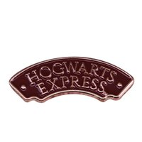 Wholesale pin unique gift for sale - Group buy Hogwarts express ticket lapel pin magic platform brooch wizard witch badge fun unique gift for potterhead