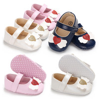 Wholesale newborn shoes for boy for sale - good quality Love Printed Kids Shoes for Girls Summer Spring Princess Shoes Infant Newborn Baby Baby Girls Shoes