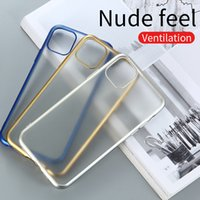 Wholesale iphone matte transparent case for sale – best 100pcs Matte Plating Transparent Case For iPhone Pro XR XS Max S Plus Candy Color Shockproof Soft Phone Back Cover
