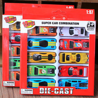 paquetes de juguetes para niños al por mayor-10pcs New Kids Car Toys / Lote aleación Tire hacia atrás Racing Juguetes para niños Coches modelos de automóviles de aleación de juguetes Volver Coches paquete de la caja scooters juguetes