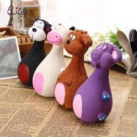 lateks evcil hayvan oyuncakları toptan satış-sıcak satış Pet köpek oyuncak 13cm köpek vokal lateks sevimli karikatür oyuncak köpek ısırma dayanıklı molar oyuncak diş çıkarma sopa oyuncaklar