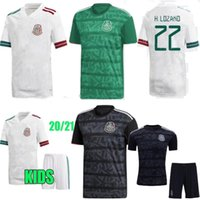 Wholesale kids mexico soccer jersey for sale - Group buy 2020 Mexico Home Green Away White Black Men Adult kids kit H LOZANO DOS SANTOS CHICHARITO sports Mexico football shirt Soccer jerseys