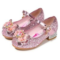 Wholesale high heeled shoes children for sale - Group buy Spring Children Shoes Girls High Heel Princess Dance Sandals Kids Shoes Glitter Leather Fashion Girls Party Dress Wedding