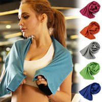Wholesale microfiber fabric sport resale online - Exercise Rapid Cooling Sports Towel Microfiber Fabric Quick Dry Ice Towels Outdoor Fitness Climbing Yoga