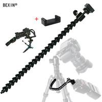 Wholesale stands flexible arm online – Flexible arm Bracket Bendable Flash Light Stand dslr camera Flash Bracket adapter mount hot shoe Holder for LED Ligh