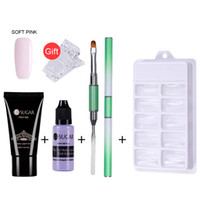 Wholesale french nail for sale - Nails Kit ml Uv Gel French Nails Art Manicure Tips Build Extending Crystal Jelly Gum Poly Gel Set
