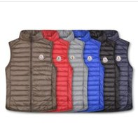 Wholesale hair wearing for sale - Group buy Classic Men winter MONCLER vest feather weskit jackets mens casual vests coat outer wear man jacket